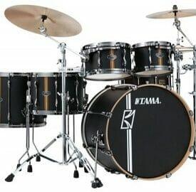 Tama Superstar Hyperdrive 5pc Drum DUO Shell Pack - Flat Black Vertical Stripe