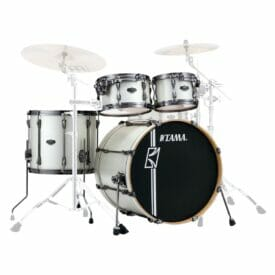 Tama Superstar Hyperdrive 4pc Drum Shell Pack - Satin Arctic Pearl3