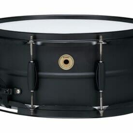 "Tama 14"" x 6.5"" Metalworks Black on Black Steel Snare Drum"