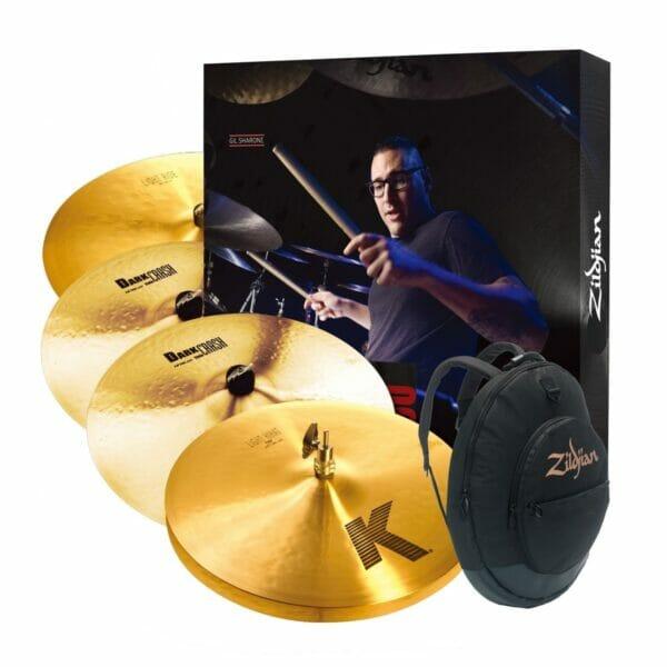 "Zildjian K Pack (15"" Light Hi-Hats, 19"" Thin Crash, 22"" Light Ride, 17"" Thin Crash, Tgig)"