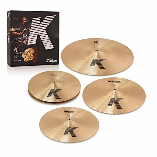 "Zildjian K Cymbal Set (14"" Hi-Hats, 16"" Thin Crash, 18"" Thin Crash, 20"" Ride)"