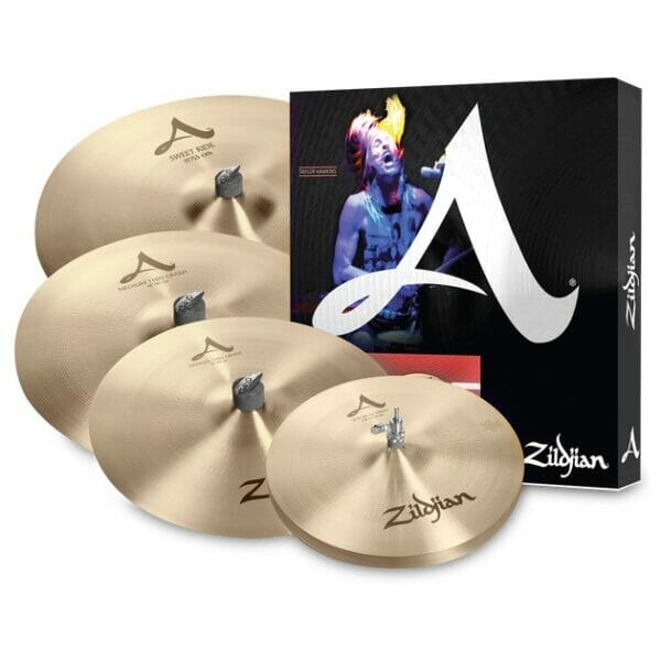 Zildjian A Cymbal Set (14 New Beat Hi-Hats, 16 Medium Thin Crash, 21 Sweet Ride, 18 Medium Thin Crash)