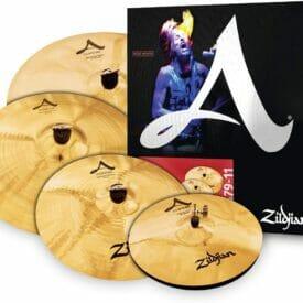 """Zildjian A Custom Cymbal Set (14"""" Hi-Hats, 16"""" Crash, 20"""" Medium Ride, 18"""" Crash)"""