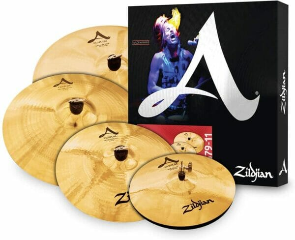 "Zildjian A Custom Cymbal Set (14"" Hi-Hats, 16"" Crash, 20"" Medium Ride, 18"" Crash)"