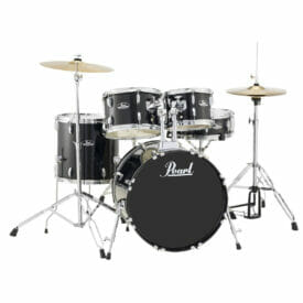 "Pearl Roadshow 20"" Starter Drum Kit with Free Stick Bag - Black"