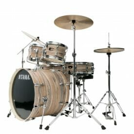 Tama Imperialstar 6-piece complete kit with 22 bass drum - Natural Zebrawood Wrap 2