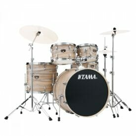 Tama Imperialstar 5-piece complete kit with 22 bass drum - Natural Zebrawood Wrap