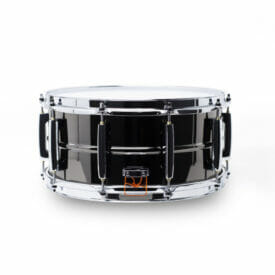 "Pearl Sensitone Heritage Alloy 14""x6.5"" Beaded Black Nickel-over-Brass Snare Drum"