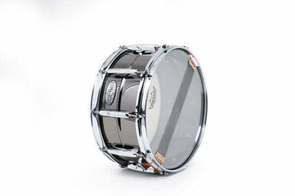 Pearl Sensitone Heritage Alloy 14x6.5 Beaded Black Nickel-over-Brass Snare Drum2
