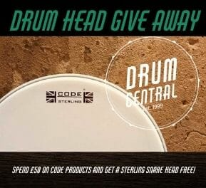 Code Sterling Snare Drum Head Give Away