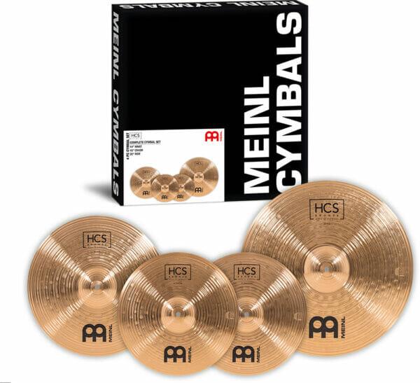 Meinl HCS Bronze Complete Cymbal Set (14 inch Hi-Hat, 16 inch Crash, 20 inch Ride)