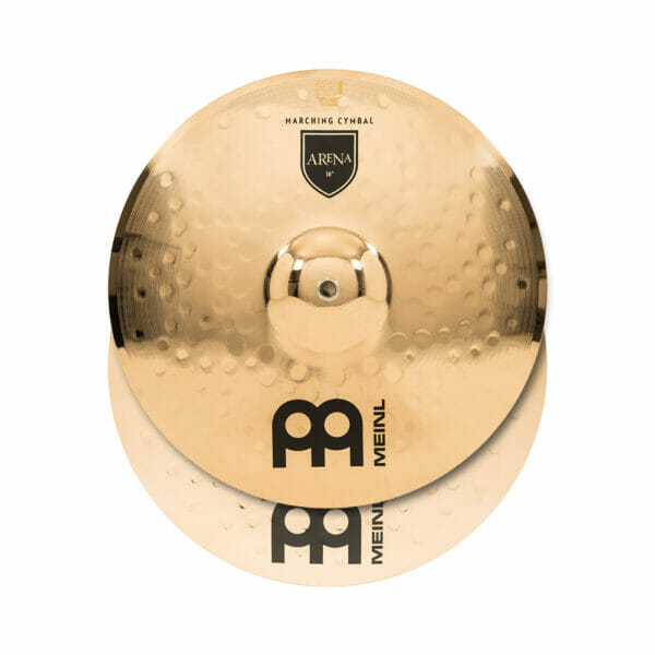 Meinl Marching 16 inch Arena Professional Range Cymbal Pair, includes BR5 Straps