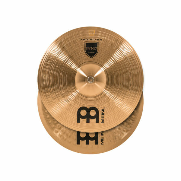 Meinl Marching 14 inch Bronze Student Cymbal Pair, includes BR3 Straps