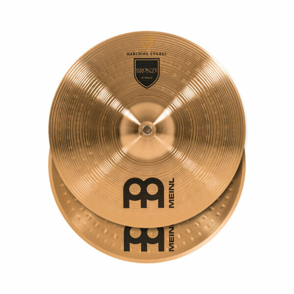 Meinl Marching 16 inch Bronze Student Cymbal Pair, includes BR3 Straps