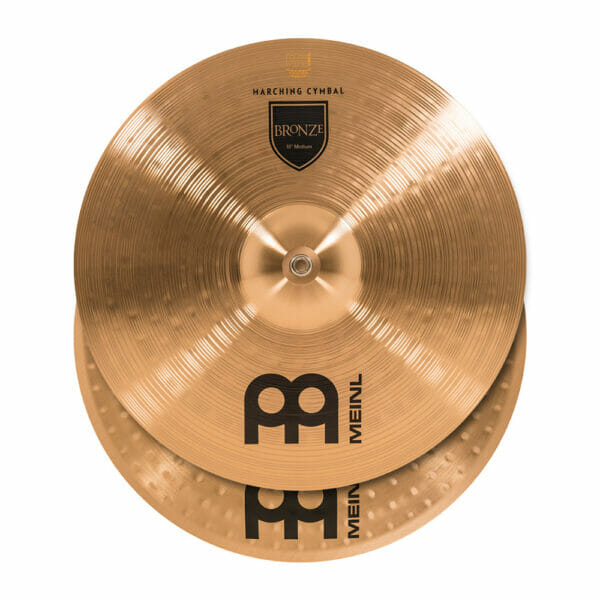 Meinl Marching 18 inch Bronze Student Cymbal Pair, includes BR3 Straps