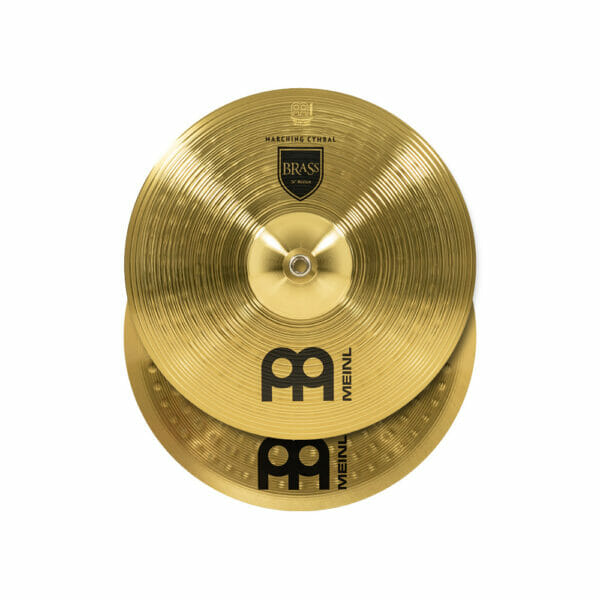 Meinl Marching 14 inch Brass Student Cymbal Pair, includes BR3 Straps