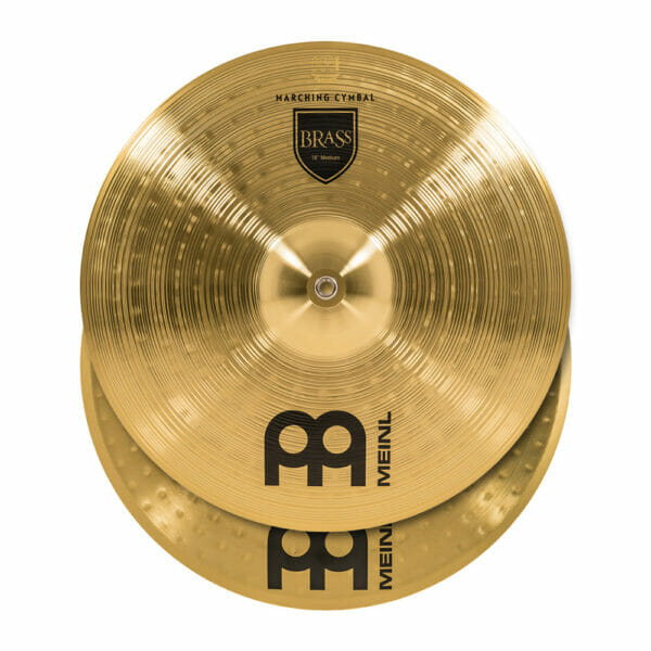 Meinl Marching 18 inch Brass Student Cymbal Pair, includes BR3 Straps