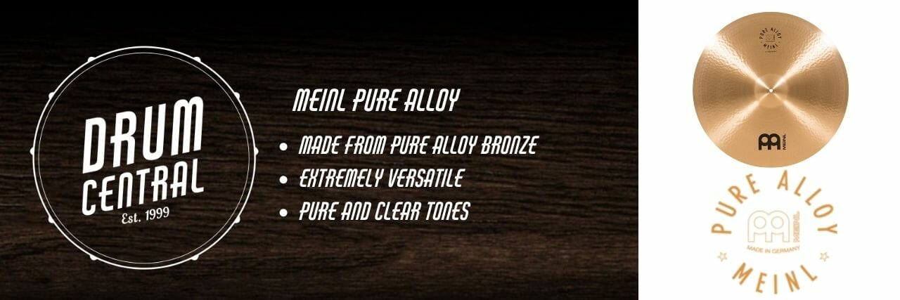 Meinl Pure Alloy Cymbals Banner
