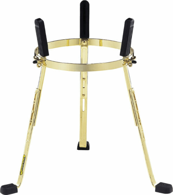 """Meinl Percussion 12 1/2"""" Steely II Conga Stand For Mongo Santamaria Artist Series, Gold"""