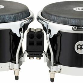 Meinl Percussion Fibercraft Series Fiberglass Bongo, REMO Black Calfskin Skyndeep Head