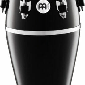 Meinl Percussion 11 3/4 Conga Fibercraft Series Conga, Black, True Skin Buffalo Head