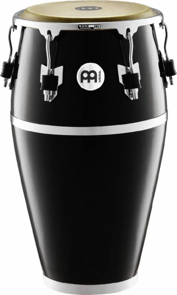 "Meinl Percussion 12 1/2"" Tumba Fibercraft Series Conga, Black, True Skin Buffalo Head"