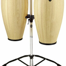 """Meinl Percussion 10"""" & 11"""" Headliner Series Conga Set, Natural, Double Stand"""