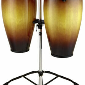 "Meinl Percussion 10"" & 11"" Headliner Series Conga Set, Vintage Sunburst, Double Stand"
