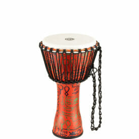 """Meinl Percussion 10"""" Rope Tuned Travel Series Djembes, Synthetic Head (Patented), Pharao's Script"""