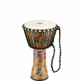 """Meinl Percussion 10"""" Rope Tuned Travel Series Djembes, Synthetic Head (Patented), Kenyan Quilt"""