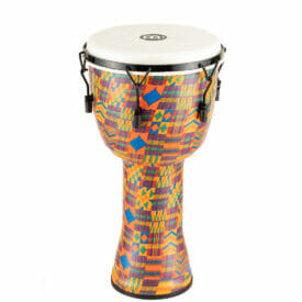 """Meinl Percussion 12"""" Mechanical Tuned Travel Series Djembe, Synthetic Head (Patented), Kenyan Quilt"""