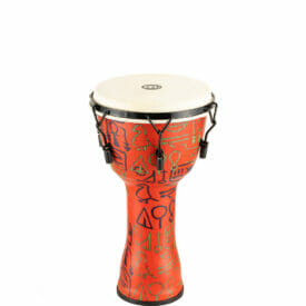 """Meinl Percussion 10"""" Mechanical Tuned Travel Series Djembe, Goat Skin Head (Patented), Pharao's Script"""