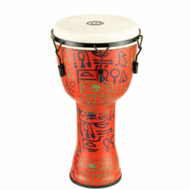 """Meinl Percussion 12"""" Mechanical Tuned Travel Series Djembe, Goat Skin Head (Patented), Pharao's Script"""