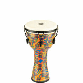 """Meinl Percussion 10"""" Mechanical Tuned Travel Series Djembe, Goat Skin Head (Patented), Kenyan Quilt"""