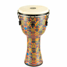 """Meinl Percussion 12"""" Mechanical Tuned Travel Series Djembe, Goat Skin Head (Patented), Kenyan Quilt"""