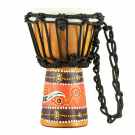 """Meinl Percussion 4 1/2"""" African Style Mini Djembe, Python Design"""