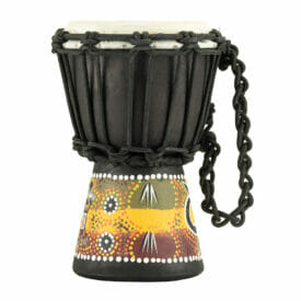 "Meinl Percussion 4 1/2"" African Style Mini Djembe, Gecko Design"