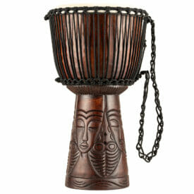 """Meinl Percussion 12"""" Professional African Style Djembe, African Queen Carving"""