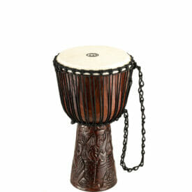 """Meinl Percussion 10"""" Professional African Style Djembe, Village Carving"""