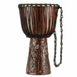Meinl Percussion 10″ Professional African Style Djembe, Village Carving