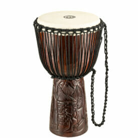 """Meinl Percussion 12"""" Professional African Style Djembe, Village Carving"""