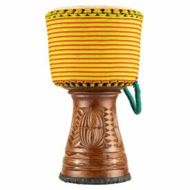 """Meinl Percussion 12"""" Artisan Edition Tongo Carved Djembe, Coloured Wrapping"""