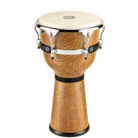 "Meinl Percussion 12"" Floatune Series Woodcraft Djembe, Zebra finished Ash"