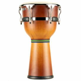 "Meinl Percussion 12"" Floatune Series Wood Djembe, Gold Amber Sunburst"