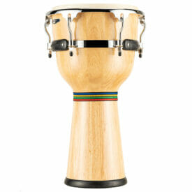 """Meinl Percussion 12"""" Floatune Series Wood Djembe, Natural"""