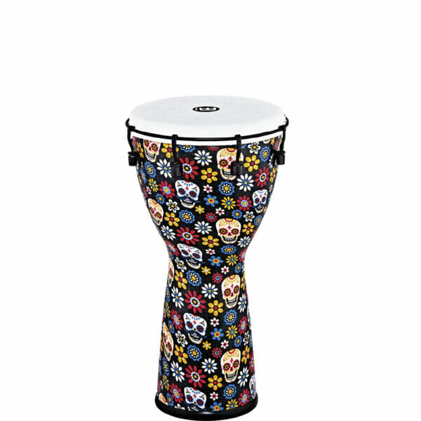 """Meinl Percussion 10"""" Alpine Series Djembe, Synthetic Head, Day Of The Dead"""