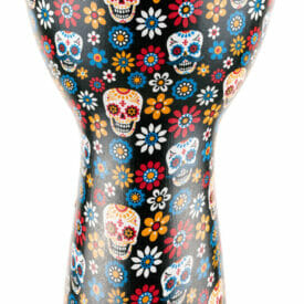 """MEINL Percussion Alpine Series Djembe, 12"""", Synthetic Head, Day Of The Dead"""