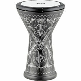"""Meinl Percussion 10"""" Aluminum Doumbek, Hand Engraved, Synthetic Head"""