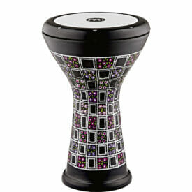 Meinl Percussion Aluminum Doumbek, Hand Engraved, Painted Floral Design, Synthetic Head