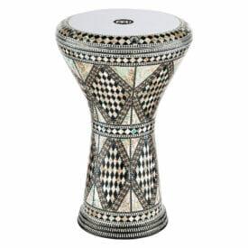 "MEINL Percussion 8 3/4"" Artisan Edition Doumbek, White Burl, Mosaic Royale"